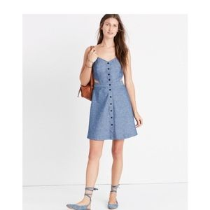 Madewell Chambray dress with side cutouts